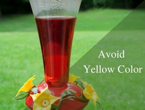 avoid yellow color